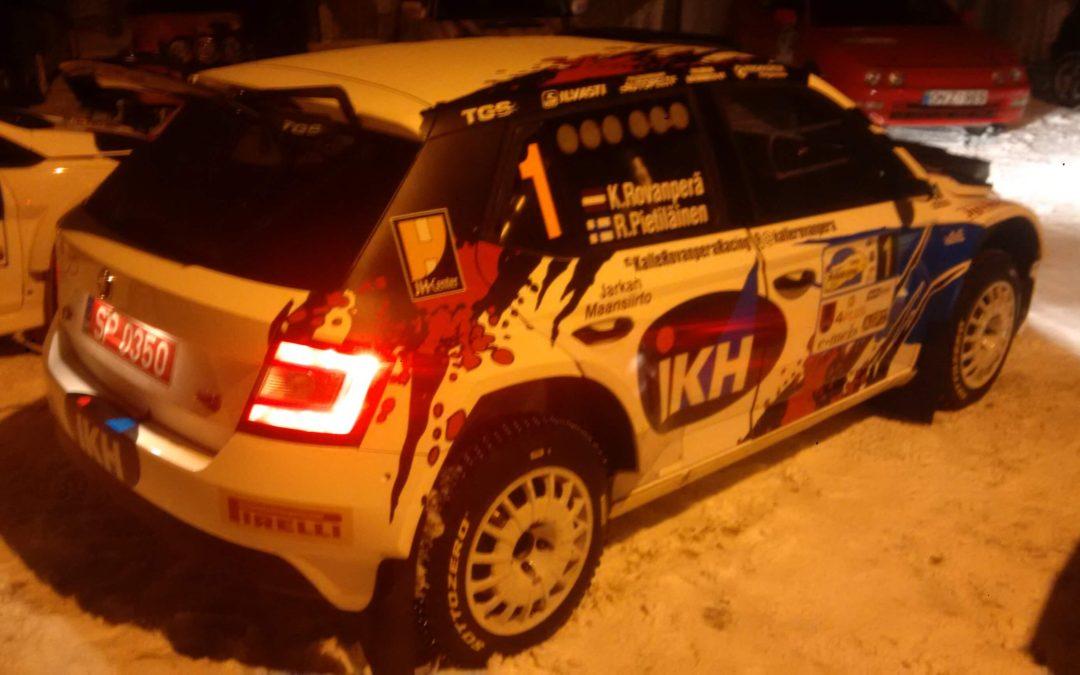 Kalle Rovanperä at Rally Aluksne 2017