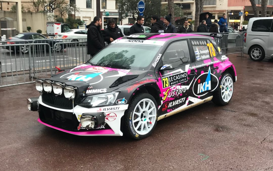 Kalle Rovanperä second at Rally Monte Carlo 2018!